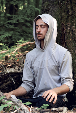 Robin hoodie men grey sweatshirt elven clothing warrior long sleeves shirt