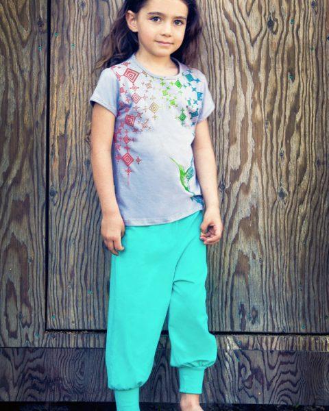 crystal mini AYAM Creation ethical clothing for children animal totem humminbird