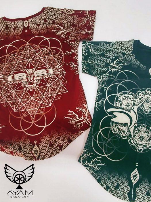 EPIC kids totem geometry t shirt pour enfant psy clothing