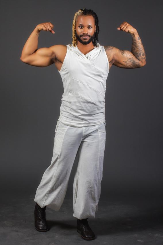 camisole blanche pour homme desert prince AYAM creation vêtement blanc fibre naturelle