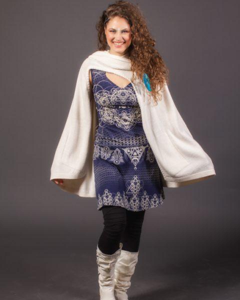 cape poncho ayam creation blanche unisexe femme en lain alpaga cape