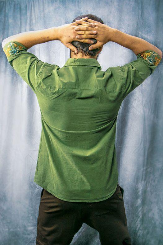 classical spirit verte de dos chemise pour homme coton bio