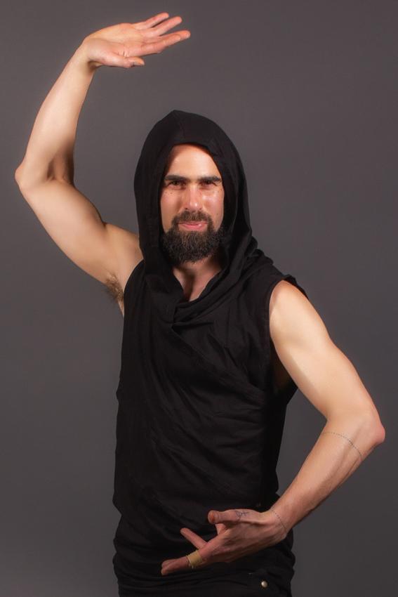 desert prince noir camisole psy trance pour homme avec col capuchon