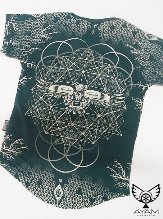 epic kidz t-shirt unisexe ayam creation logo totem geometrie sacree chandail manche courte psy clothing for kidz