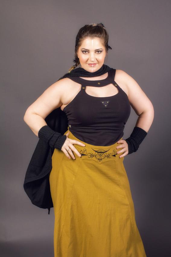 jupe longue pour femme en coton bio et lacage au dos jupe texture lin pour cérémonie