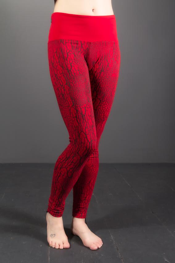 legging yoga chi imprimé d'écorce d'arbre et texture de feuille leggings de yoga avec poche à la ceinture