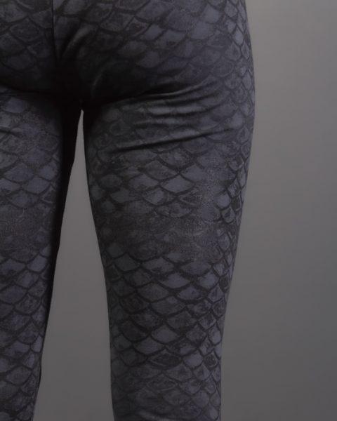 leggins de yoga de coton pour femme gris leggings d'écaille de poisson