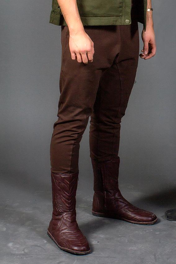 ninja pants brun pantalon low crouch en coton extensible heavy duty pour homme unisexe pantalon