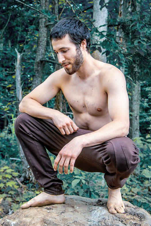 ninja pants outdoor pantalon fourche passe pour homme en coton extensible