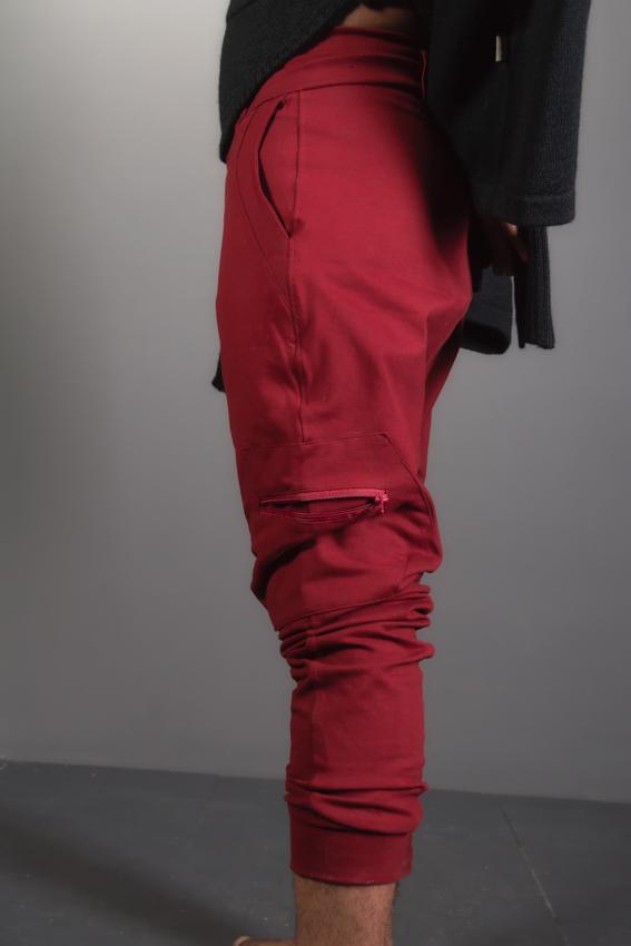 pentalon ninja fourche basse avec multi poche solide ayam pentalon de yoga pour homme