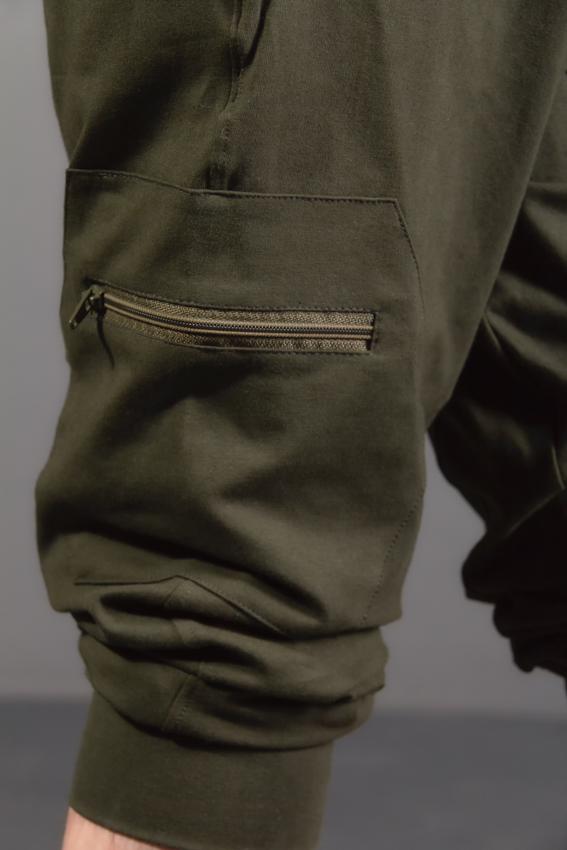 poche de côté ninja pants ayam creation vert kaki pour homme