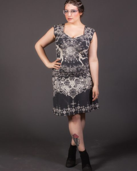 robe symbiose ayamcreation robe imprimé 4 éléments vêtement art huichol